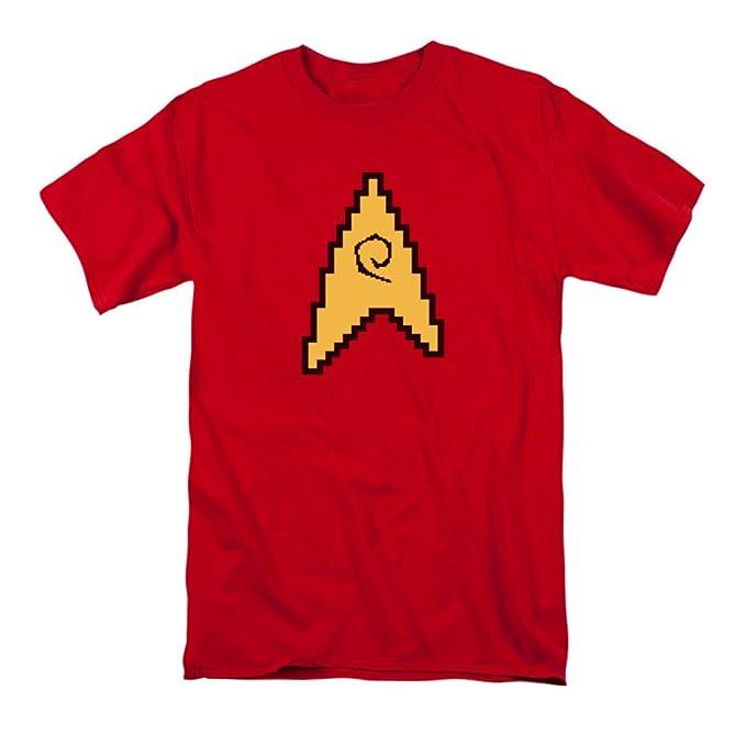 b5ff28eb0 Amazon.com: Star Trek TOS 8-Bit Engineering Symbol T-Shirt: Clothing