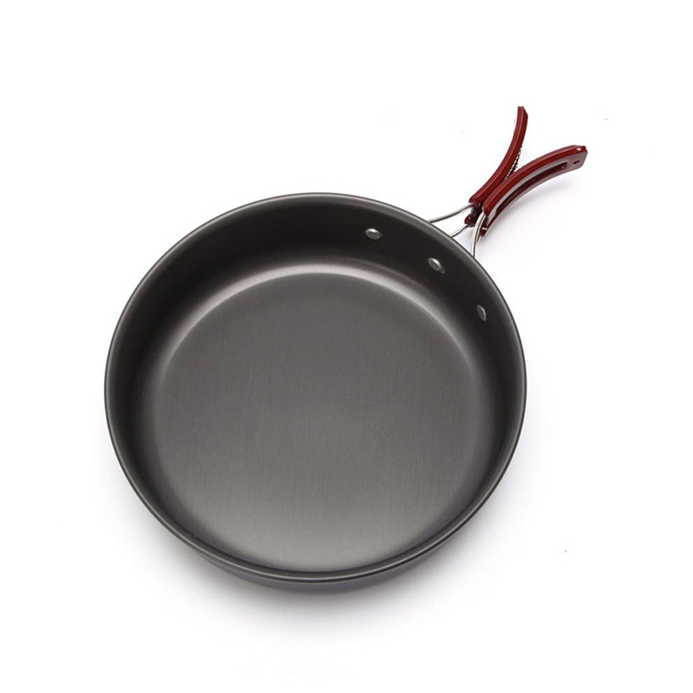 KingTo Outdoor Household Ultralight Frying Pan, Hiking Picnic Tableware Backpacking Pot Cooking Frying Pot Cookware For Tableware Pot