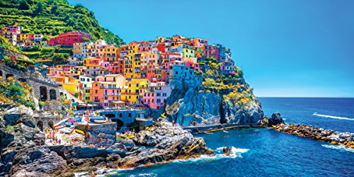Italy Cinque Terre Coast Decorative Scenic Travel Photography Print (Unframed 12x24 Poster) (Scenic Posters)