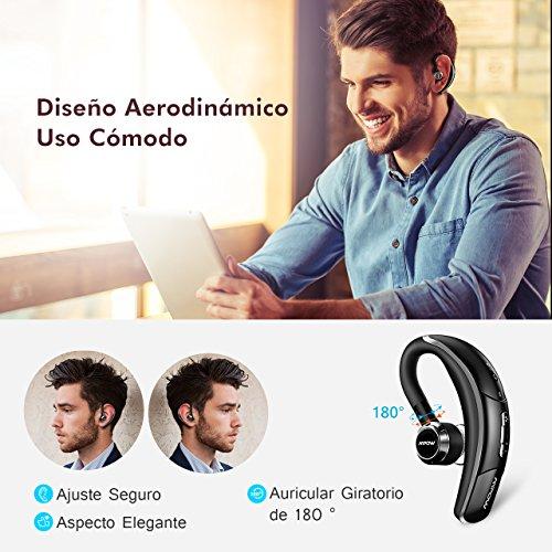 Manos Libres Bluetooth Auricular, Mpow Auriculares Bluetooth 4.1 EDR,Auricular Bluetooth Telefono con Cancelación de Ruido, Auriculares Inalámbricos de Giratorio 180...