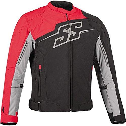 Textile Rocket Suzuki Joe (Speed and Strength Men's Hammer Down Black/Red Textile Jacket, M)
