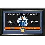"NHL Edmonton Oilers Man Cave Panoramic Coin Photo Mint, Bronze, 22"" x 15"" x 4"""