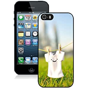 Cute Smile T Shirt Hard Plastic iPhone 5 5S Protective Phone Case