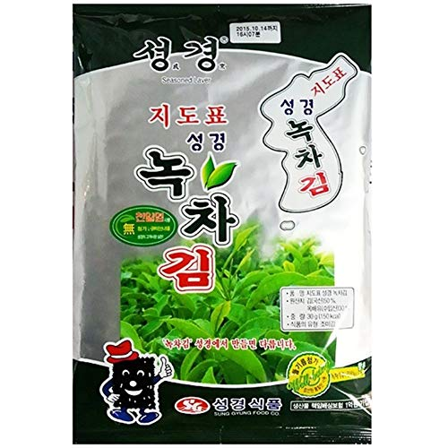Green Tea Laver Full Size 30g x 1 녹차김 by Sung Gyung Food