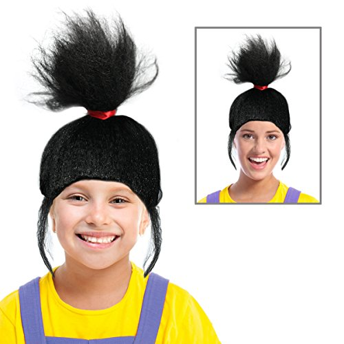 Black Agnes Wig Agnus Wig Costume For Kids or Adults Ideal for an Agnes (Soc Halloween Costume)