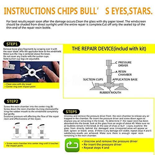 ouying1418 DIY Windshield Repair Kits Glass Scratches Restore Cracks Chips Repair Tools