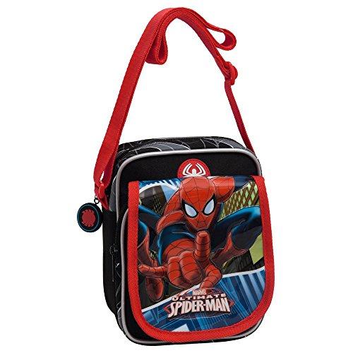 Marvel Spiderman Borsa Messenger, Poliestere, Blu, 19 cm