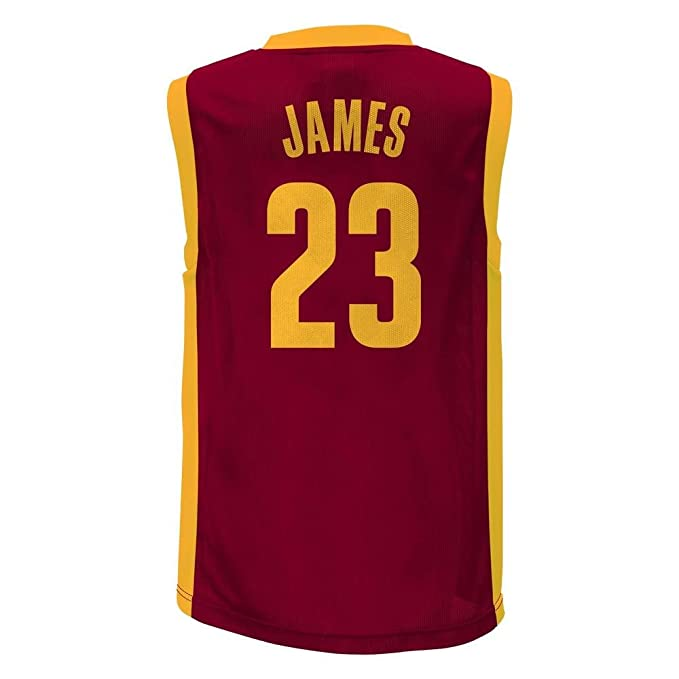 cheap for discount ad4a4 cefb3 Amazon.com: Lebron James Cleveland Cavaliers #23 Red Youth ...