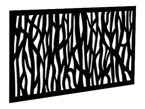 - YardSmart 73004791 Decorative Screen Panel 2X4-Sprig, Black