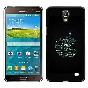 A-type Arte & diseño plástico duro Fundas Cover Cubre Hard Case Cover para Samsung Galaxy Mega 2 (Manzana Tipografía)