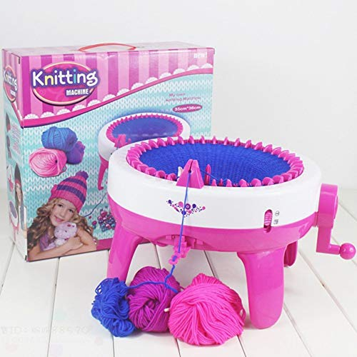 ls Knitting Machine DIY Manual Hats Scarves Knitting Machine Knitted Sweater Toys for Kids ()