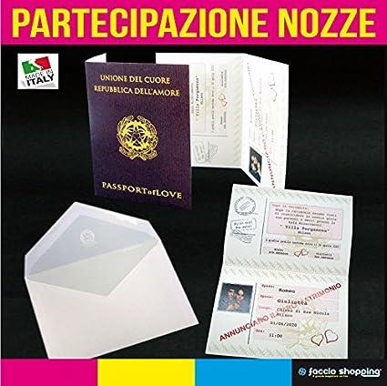 Partecipazioni Matrimonio Particolari.Partecipazioni Nozze Passaporto Inviti Matrimonio Particolari