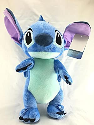 "Disney Lilo And Stitch Jumbo 17"" Plush/Crossbody Bag- Blue"