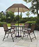 Cheap Sand Dune 6-Piece Patio Dining Set with Umbrella