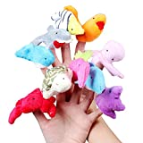 Accmart(TM) Baby Kids Educational Toy Marine Animal Finger Puppet Plush Toy (Set of 10)