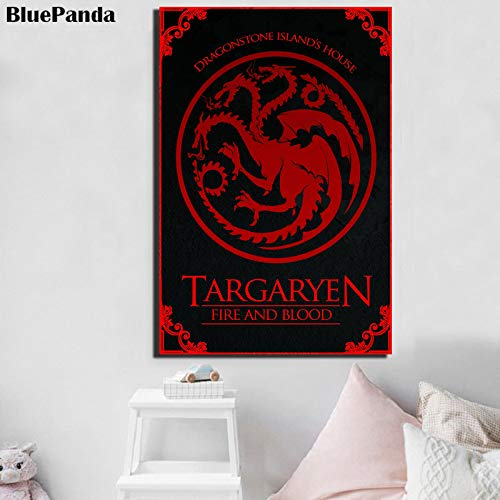 wojinbao Sin Marco Targaryen película Cartel Moderno Pintura ...