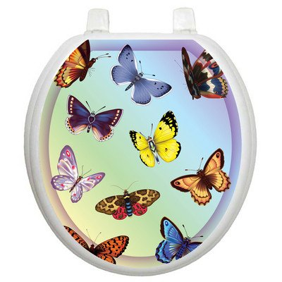 Toilet Tattoos Butterfly Dreams Decorative Applique For Toilet Lid