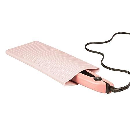 mDesign Protector de silicona para plancha del pelo o ...