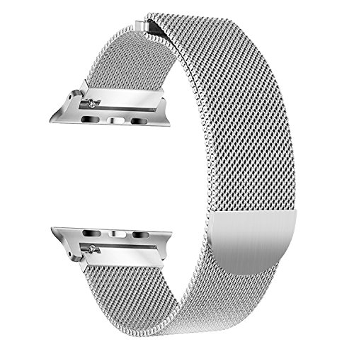 Bandx Milanese Loop Band for Apple Watch 38mm 42mm,Stainless Steel Mesh Band with Magnetic Closure for iWatch Series 3 Series 2 Series 1