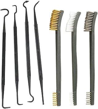 4pcs Nylon Pick Gun Hunting Tactical Rifle Cleaning Kit 3pcs Steel Wire Brush