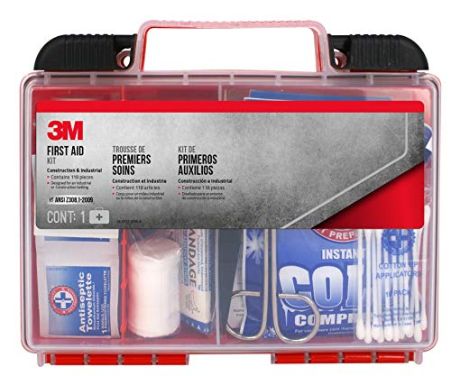 3M Construction/Industrial First Aid Kit, FA-H1-118PC-DC, 118 pieces