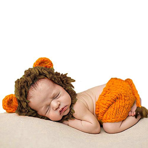 [Baby Lion Woven Costume- Handmade and Vegan Friendly: Baby Hats, Outfits, and Gifts- Infants 0-3] (Homemade Halloween Costumes For Toddlers Ideas)