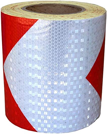 environ 0.51 cm 150 ft x 0.2 in rouge Ruban Réfléchissant Sécurité Auto Bande adhésive environ 45.72 m