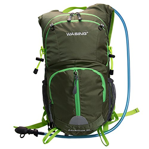 WASING Hydration Backpack Bladder 3 Compartment Hiking Running Cycling Climbing Skiing product image