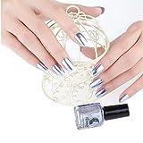 CieKen Mirror Nail Polish, Plating Silver Paste Metal Color Mirror Long Lasting Nail Polish Makeup Polish Nail Painting Art (A)