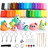 Polymer Clay, Ubegood 32 Colors Oven Bake Model Clay DIY Air Dry Clay Soft Molding Craft Clay Set with Modeling Tools and Accessories Best Gift for Kids