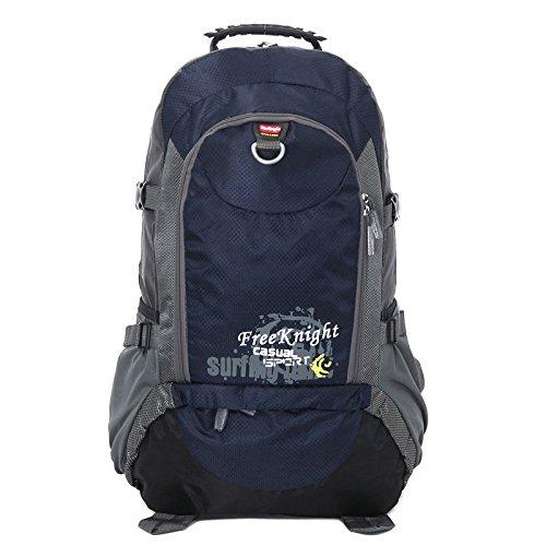 Montañismo bolso al aire libre hombres y mujeres hombro mochila bolsas de gran capacidad paquete senderismo montañismo 40L, old blue rojo