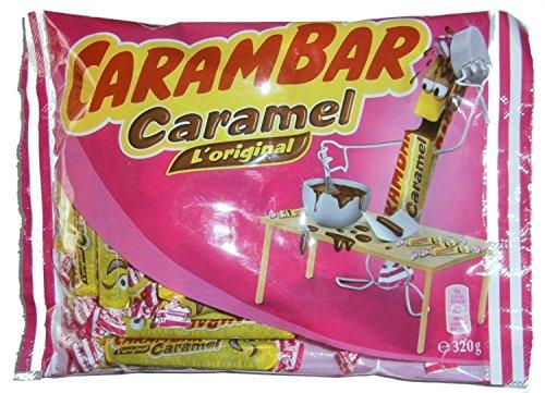 Karamellbonbons, Carambar Caramel L'original, original Carambar Karamell Stäbchen 320g Beutel