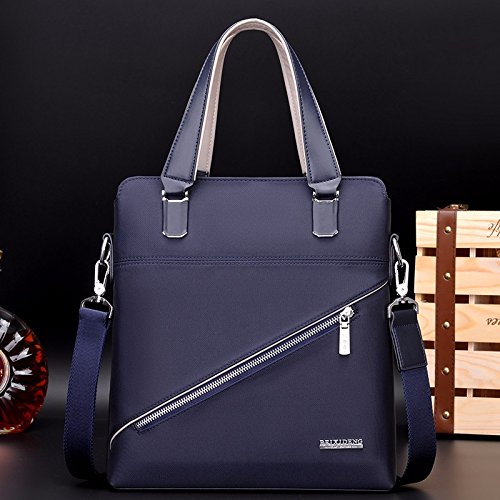 ZHUDJ A Business Man Handbag Briefcase Computer Vertical Bag Leisure Oxford Cloth Satchel Bag Bag,Blue (Send Handbag) black