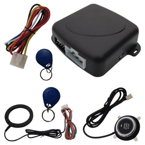 Guarder OS838C Car RFID Alarm Finger Touch Engine Start Stop Push Button And Two Transponders (Car Alarm System Push Start)
