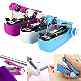 Cindere Mini Handheld Sewing Machine Portable Stitch Travel Household Electric Sewing Machine (Random Color)