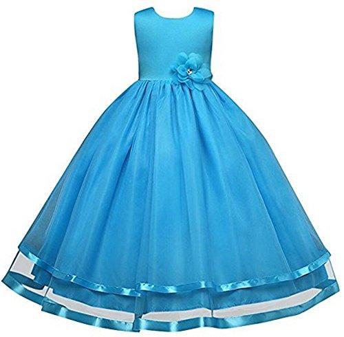 Demoiselle Fête Dentelle De Court 104 Floral Tulle Fleur Robe 152 Ballon Et Bal Princesse Fille 140 Taille Soir Agogo 128 Bleu 164 D'honneur 116 CXtqYXv