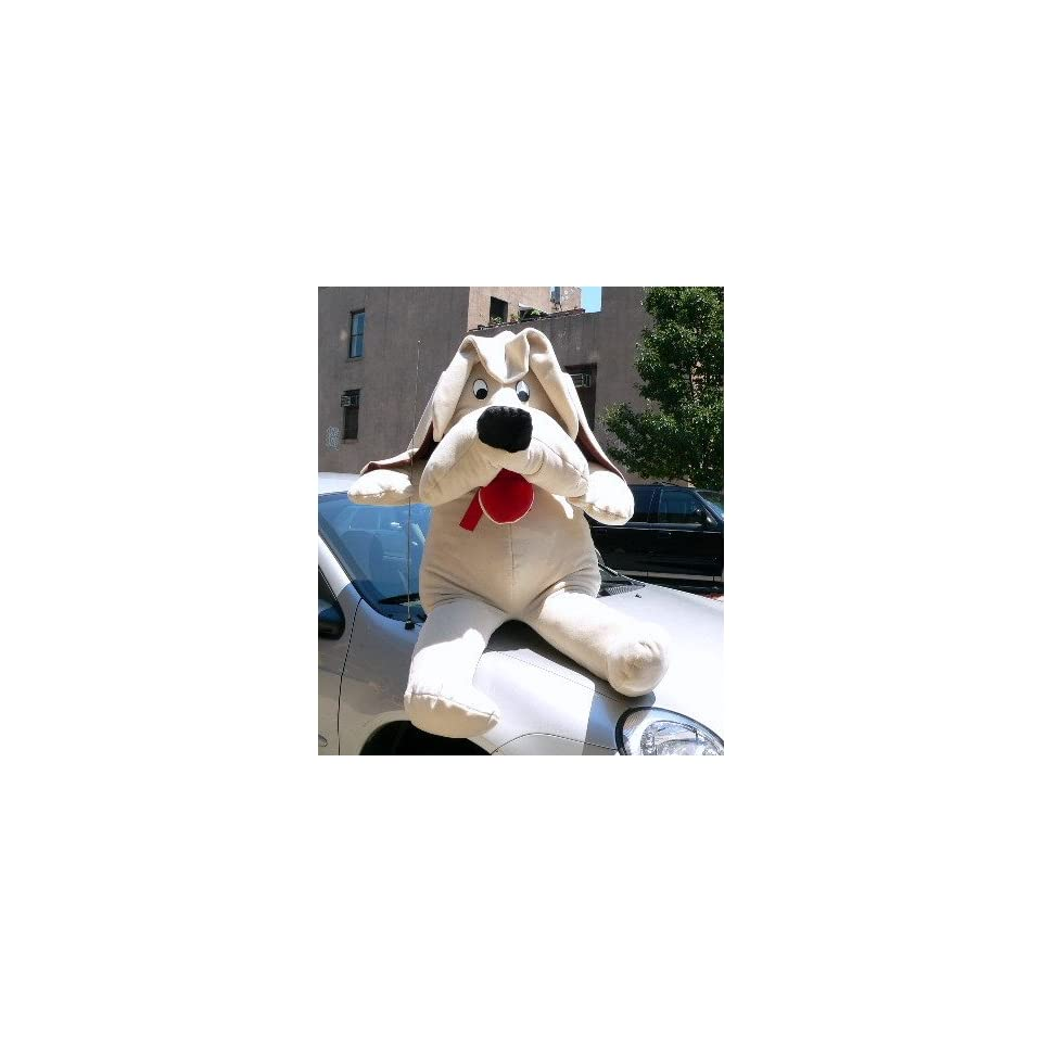 GIANT 60 SOFT STUFFED PLUSH PUPPY DOG   COLOR BEIGE   AMERICAN MADE IN THE USA AMERICA