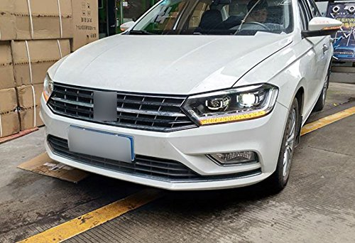 GOWE Car Styling For KOWELL Car Styling For VW Bora headlights 2016 For Bora head lamp led DRL front Bi-Xenon Lens Double Beam Color Temperature:5000k;Wattage:55w 1
