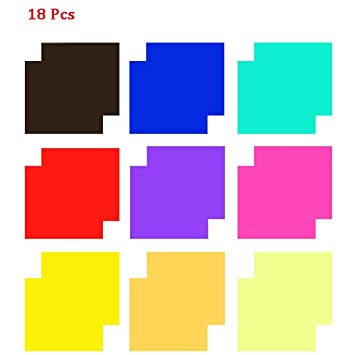 Amazon Com 18 Pack Colored Overlays Transparency Color Film Plastic