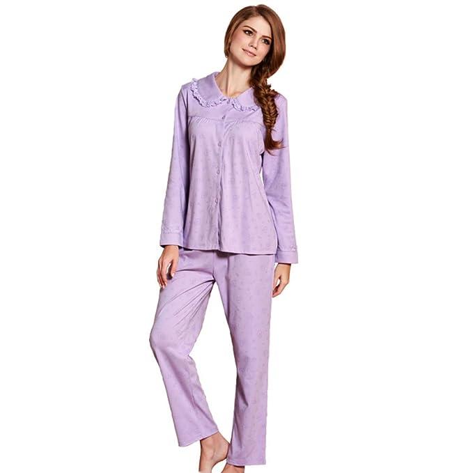 otoño/invierno pijamas de la mujer/Pijamas de encaje dulce/ algodón caliente servicio