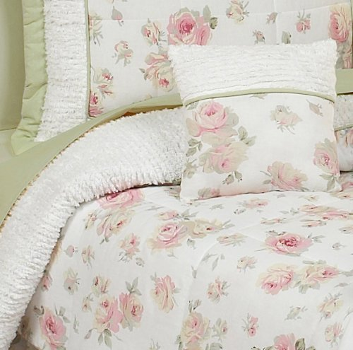 amazoncom sweet jojo designs 5 piece rileys roses toddler bedding girls set baby - Toddler Girl Bedding