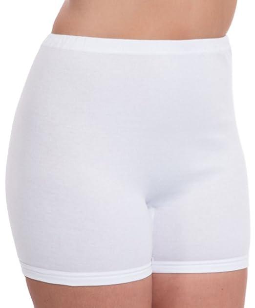 3 Ladies Cuff Legs 100/% Cotton Airtex Briefs Knickers Underwear All Sizes