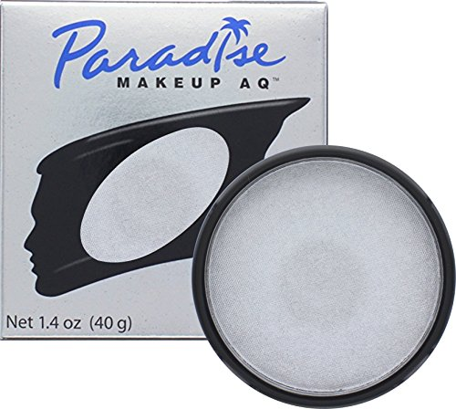 Clown Collection Costumes Makeup Kit (Mehron Makeup Paradise AQ Face & Body Paint, SILVER / ARGENT: Brilliant Series – 40gm)