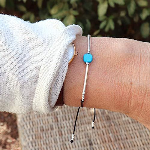 bracelet femme turquoise argent