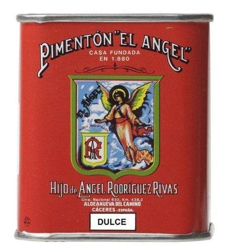 Paprika Tin - Spanish Smoked Sweet Paprika. El Angel brand since 1880. 1 Tin