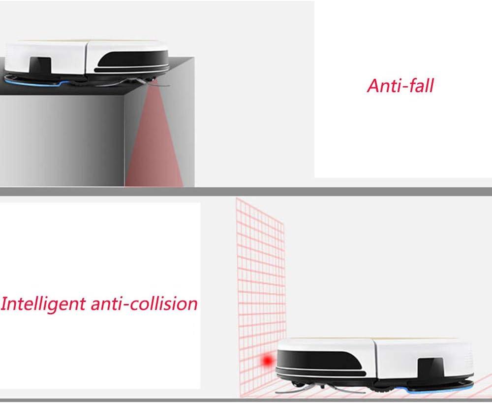 DDIAN Aspirateur Robot Balayage Automatique Ultra Slim Mopping Aspirer Aspirateur Silencieux Aspiration Forte for Plancher Dur Carrelage Cheveux Et Tapis for Animaux,4 2