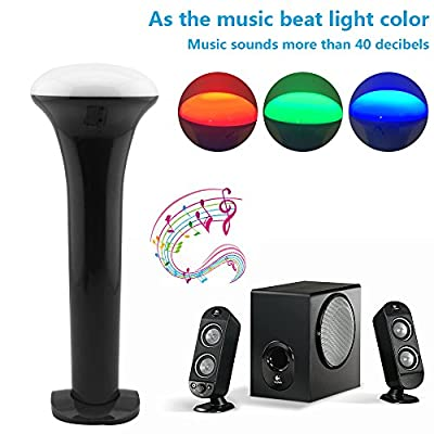 LP LED Flashlight , Multi-function Color Changeable By Sound Control Rechargeable By Usb Cable , for Concert , House Party , Outdoor Camping Trip , Entertainment Acts ?portable and Lightweight (Black)