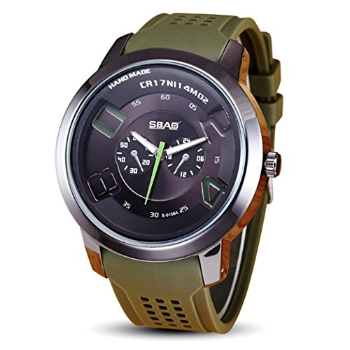 Rokment Colorful Students Wrist Watch Clock Minimalist Connotation Gift for Men Green