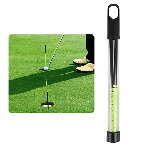Andux Golf Training Aid Golf Putting String With Pegs Golf Putting Guide Line LXXLQ-01