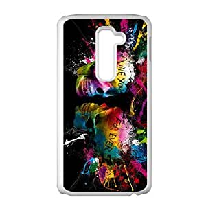 Romantic colorful watercolour skull Phone Case for LG G2 by icecream design